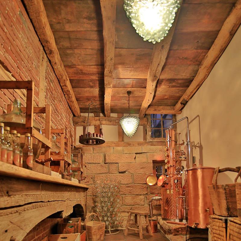Die Destille im Hofgut Dagobertshausen