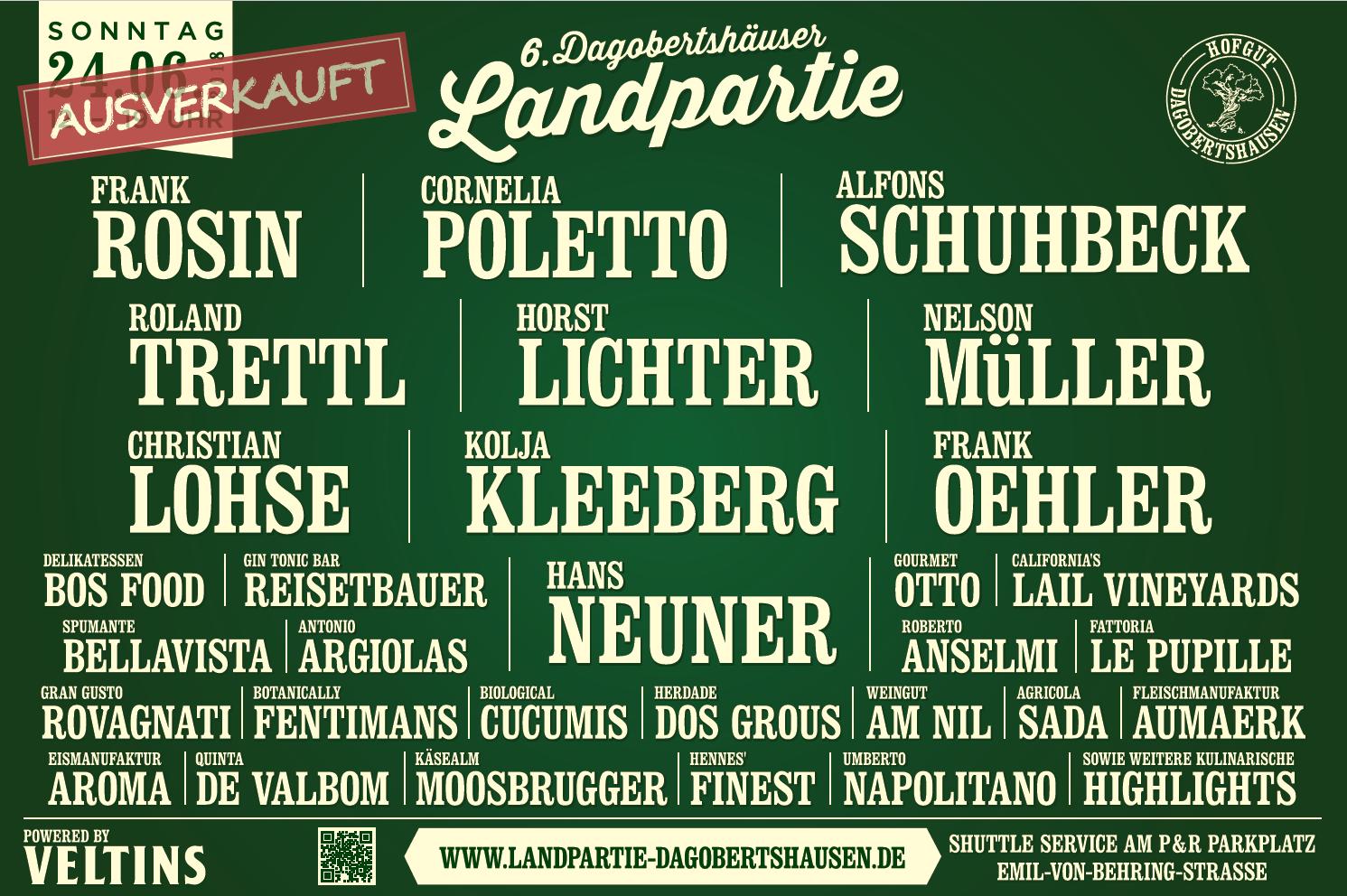 Landpartie Plakat